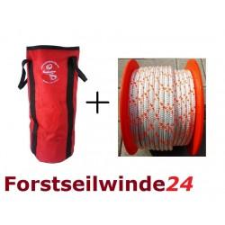 - SET Seil- Zugseil- Bergeseil Windenseil 100m/10mm +