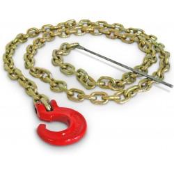- Choker-Kette- 2,1m mit C-Haken und Stahlstift für Portable