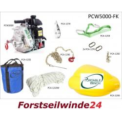 - Forstseilwinde, Spillwinde-Seilwinde SET PCW5000 FK