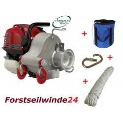 - Set Forstseilwinde PCW 3000 / Benzin Seilwinde / Spillwinde