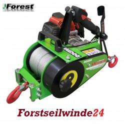 Forstseilwinde Docma VF 150 Seilwinde inkl. 80m Stahlseil- Benzinwinde