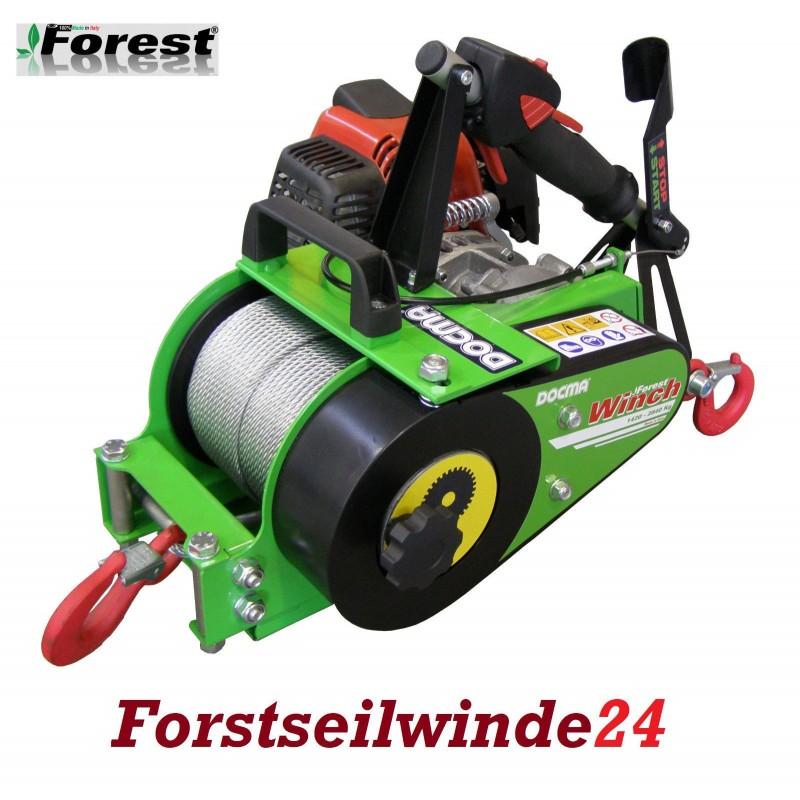 - Forstseilwinde Docma VF 150 Seilwinde inkl. 80m Stahlseil-