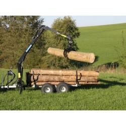 - Rückewagen-Rückanhänger RE 2/3200 mit Forstkran