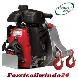 Spillwinde, Forstwinde, PCW 5000 Benzinwinde,Motorwinde,tragbar + 50 m Seil