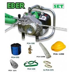 EDER Spillwinde Powerwinch SET Forst 1200 Forstseilwinde, Motorwinde,Benzinwinde