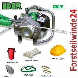 EDER Spillwinde Powerwinch SET/ ESW 1200, Forstseilwinde, Motorwinde,Benzinwinde