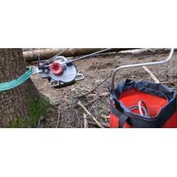 Spillwinde Forstseilwinde VF 105 RED IRON + 50 Seil / Benzin- Motorseilwinde